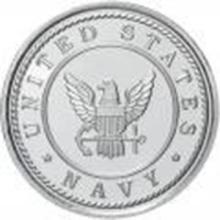 US Navy .999 Silver 1 oz Round #27444v2