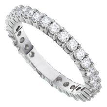 14KT White Gold 0.50CTW DIAMOND ETERNITY BAND #50517v2