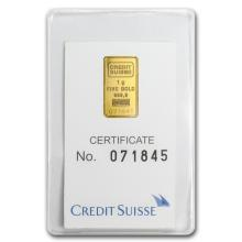 1 gram Gold Bar - Credit Suisse Statue of Liberty (In A #10139v1