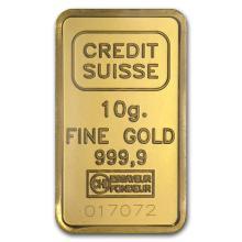 10 gram Gold Bar - Credit Suisse Statue of Liberty #10124v1