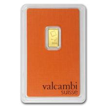 1 gram Gold Bar - Valcambi (In Assay) #10102v1