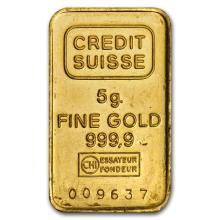 5 gram Gold Bar - Secondary Market #10105v1