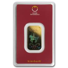 10 gram Gold Bar - Austrian Mint (KineBar Design, In As #10129v1