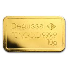 10 gram Gold Bar - Degussa (Pressed) #10115v1