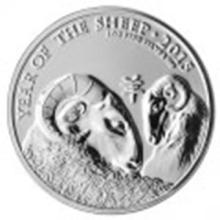 2015 Great Britain 1 oz Silver Year of the Sheep BU #27516v2