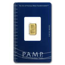 1 gram Gold Bar - Pamp Suisse Lady Fortuna (In Assay) #10101v1