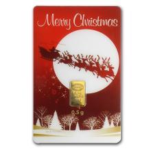 1/2 gram Gold Bar - Istanbul Gold Refinery (Christmas A #10134v1