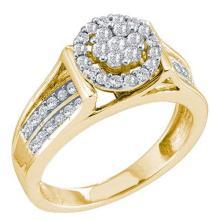14KT Yellow Gold 0.52CTW DIAMOND LADIES FASHION FLOWER RING #64580v2