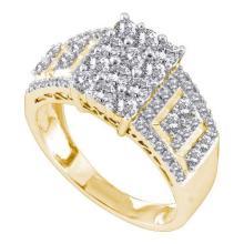 14K Yellow-gold 1.00CTW ROUND DIAMOND LADIES FASHION RING #56347v2