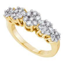 14K Yellow-gold 1.00CTW DIAMOND FLOWER RING #55542v2
