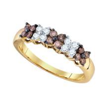 10KT Yellow Gold 0.51CTW COGNAC DIAMOND FASHION RING #54582v2