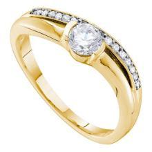 14K Yellow-gold 0.42CTW DIAMOND 0.33CTW ROUND CENTER BRIDAL RING #57528v2