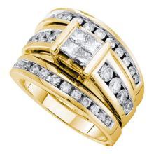 14K Yellow-gold 1.90CT DIAMOND INVISIBLE BRIDAL SET #57542v2