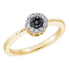 14KT Yellow Gold 0.25CTW DIAMOND FLOWER RING #57034v2