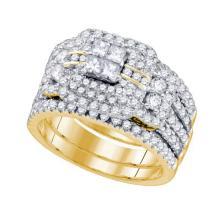 14K Yellow-gold 2.05CT DIAMOND INVISIBLE BRIDAL RING #59125v2