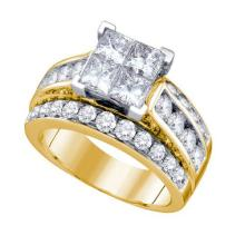14K Yellow-gold 3.50CTW DIAMOND INVISIBLE RING #58592v2