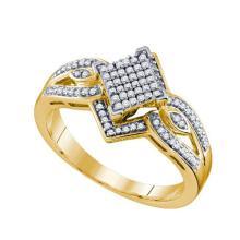10K Yellow-gold 0.25CT DIAMOND MICRO PAVE RING #67514v2