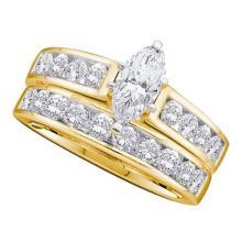 14K Yellow-gold 2.00CT DIAMOND 0.50CT-CMQ BRIDAL SET #56503v2