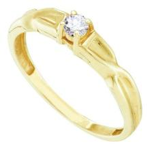 10KT Yellow Gold 0.12CT-DIAMOND PROMISE RING #53346v2