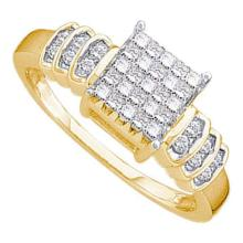 14KT Yellow Gold 0.33CTW DIAMOND INVISIBLE RING #53385v2
