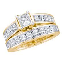 14K Yellow-gold 2.00CT DIAMOND 0.60CT-CPR BRIDAL SET #56602v2