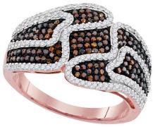 10KT Rose Gold 0.75CTW DIAMOND MICRO-PAVE RING #62326v2