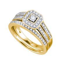 14KT Yellow Gold 0.50CTW DIAMOND BRIDAL SET #51136v2
