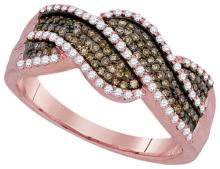 10KT Rose Gold 0.50CTW DIAMOND FASHION RING #61956v2