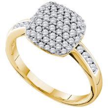 14KT Yellow Gold 0.51CTW DIAMOND FASHION RING #52165v2