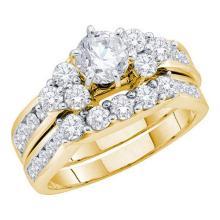 14K Yellow-gold 2.00CT DIAMOND 0.75CT-CRD BRIDAL SET #57287v2