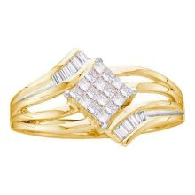 14KT Yellow Gold 0.25CTW DIAMOND INVISIBLE RING #53592v2