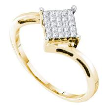 14K Yellow-gold 0.25 CTW DIAMOND INVISIBLE RING #53437v2