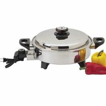 Precise Heat 3.5qt T304 Stainless Steel Oil Core Skillet #49338v2