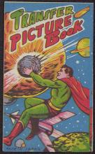 VINTAGE 1950s TRANSFER PICTURE BOOK W/ SUPER HERO - MAD #43098v2