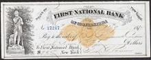 1870s Checks from 1st National Bank of Cooperstown, NY #46979v2