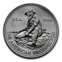 1 oz Silver Round - Engelhard Prospector (1984, Eagle Reverse) #52608v3