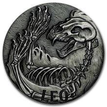 1 oz Silver Round Leo - Zodiac Series #52677v3