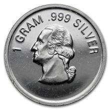 1 gram Silver Round - Secondary Market #52611v3