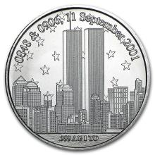 1 oz Silver Round - Forever In Our Heart 9/11 #52615v3