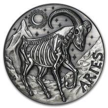 1 oz Silver Round Aries - Zodiac Series #52681v3