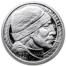 1 oz Silver Round - Hobo Nickel Replica (The Fisherman) #52600v3