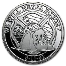 1 oz Silver Round - We Will Never Forget #52613v3