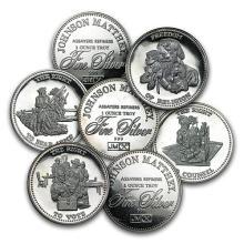 1 oz Silver Round - Johnson Matthey (Freedom, Random Motif) 1 PEICE PER LOT #52624v3