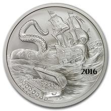 2016 Kraken Silverbug Island 1 oz Silver Round BU #52609v3