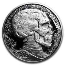 1 oz Silver Round - Hobo Nickel Replica (Skulls & Scrolls) #52607v3
