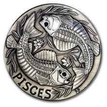 1 oz Silver Round Pisces - Zodiac Series #52680v3