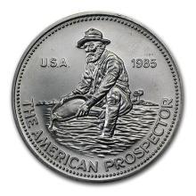 1 oz Silver Round - Engelhard Prospector (1985, Eagle Reverse) #52610v3