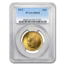 1911 $10 Indian Gold Eagle MS-64 PCGS #52546v3