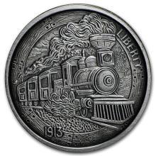 1 oz Silver Antique Round - Hobo Nickel Replica (The Train) #52617v3