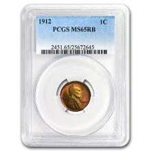 1912 Lincoln Cent MS-65 PCGS (Red/Brown) #52537v3
